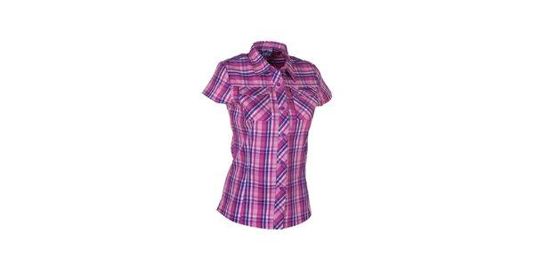 Dámska ružovo-fialová kockovaná košeľa Envy
