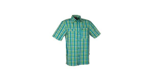 Pánska zelená kockovaná košeľa Envy