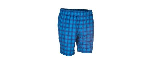 Pánske modré elastické šortky s potlačou Envy