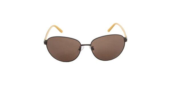 Dámske čierno-žlté slnečné okuliare Calvin Klein