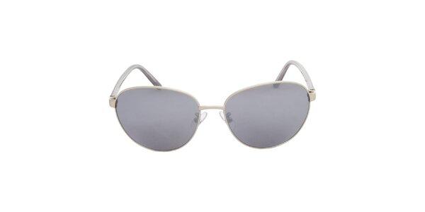 Dámske strieborno-čierne slnečné okuliare Calvin Klein