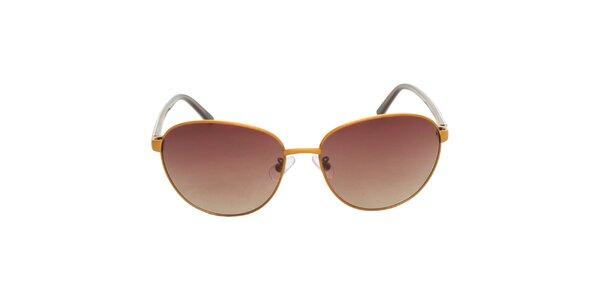 Dámske žlto-hnedé slnečné okuliare Calvin Klein