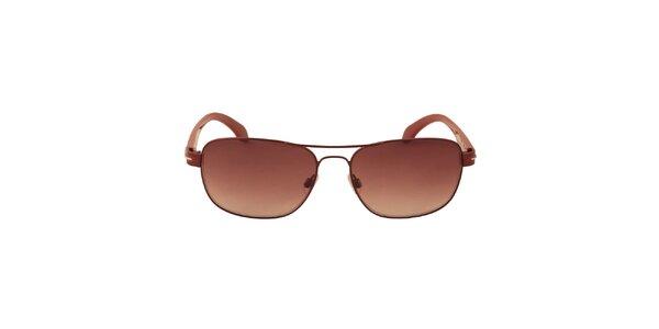 Dámske vínové slnečné okuliare Calvin Klein