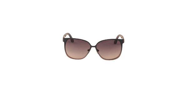 Dámske modro-hnedé slnečné okuliare Calvin Klein