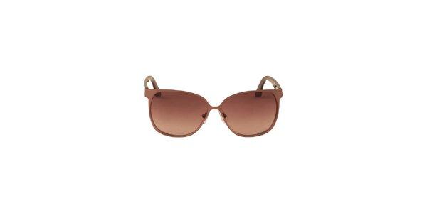 Dámske bronzové slnečné okuliare Calvin Klein