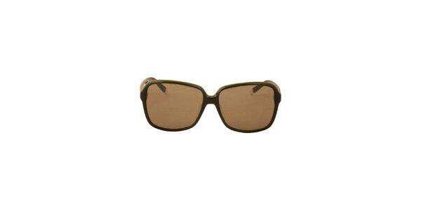 Dámske olivovo zelené slnečné okuliare Calvin Klein