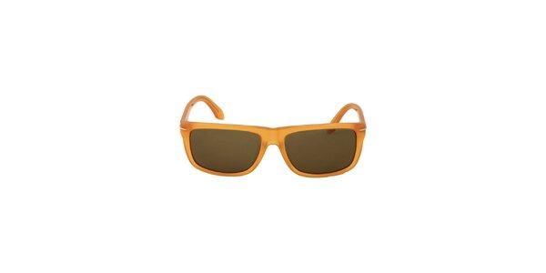 Dámske jantarovo žlté slnečné okuliare Calvin Klein
