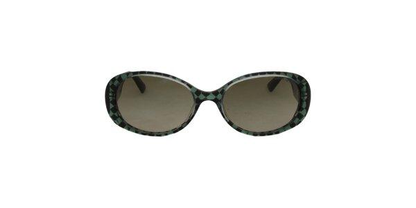 Dámske čierno-zelené slnečné okuliare Emporio Armani
