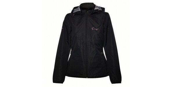 Dámska čierna nepremokavá bunda Envy