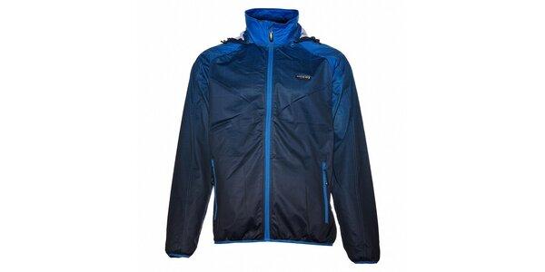 Pánska tmavo modrá softshellová bunda Envy s potlačou