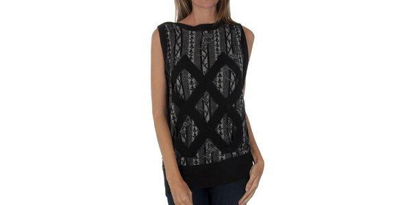 Dámska čierno-šedá pletená vesta Custo Barcelona