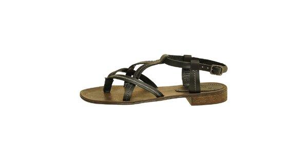 Dámske čierne páskové sandálky Levis