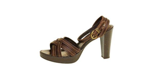 Dámske hnedé páskové sandálky Levis