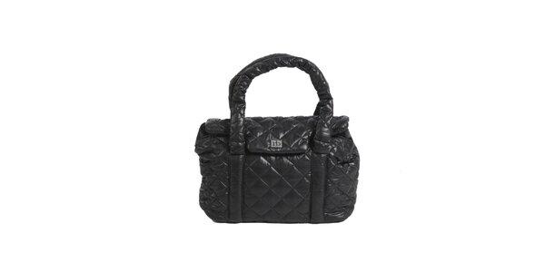 Dámska čierna prešívaná kabelka Roccobarocco