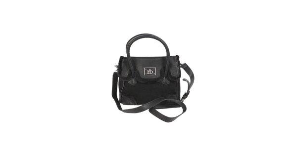 Dámska čierna kabelka s kožúškom Roccobarocco