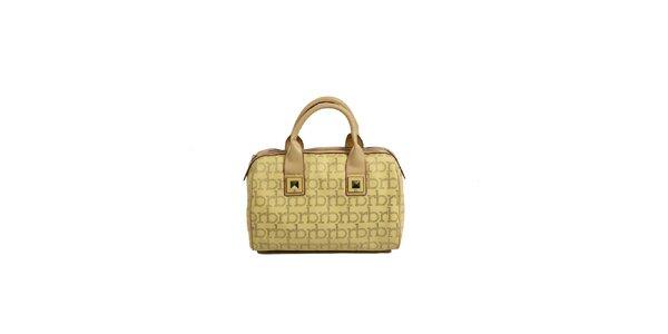 Dámska žltá kabelka s monogramom a cvočkami Roccobarocco