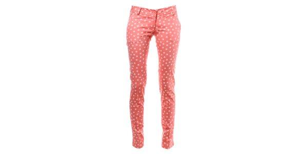Dámske ružové bodkované nohavice Phard
