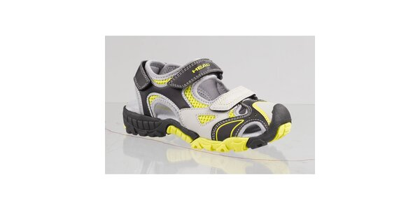 Dámske čierno-žlté sandále s šedými detailmi Head