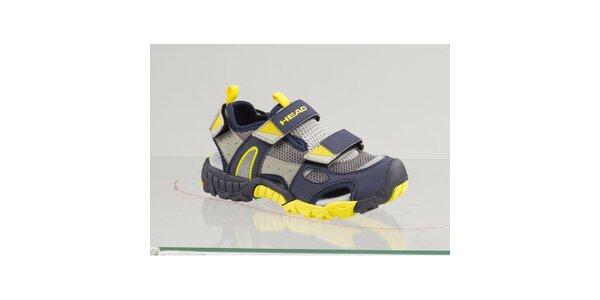 Dámske modro-žlté topánky s šedými detailmi Head