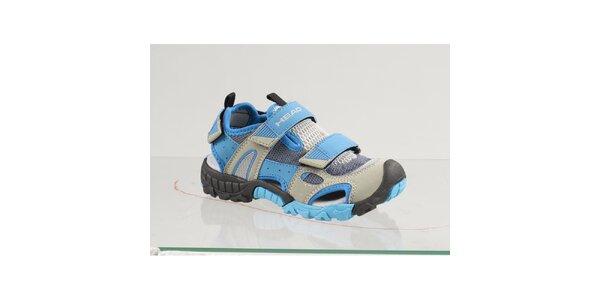 Detské modré topánky s šedými detailmi Head