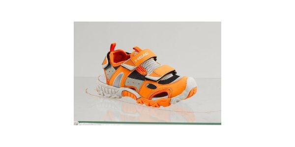 Detské oranžové topánky s šedými detailmi Head