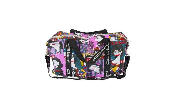 Dámska pestrofarebná taška Custo Barcelona s potlačou