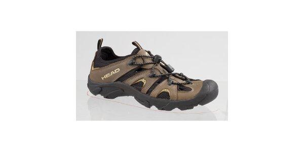 Hnedo-čierne trekové topánky Head
