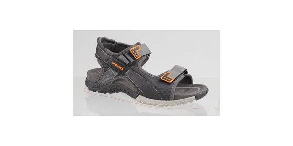 Pánske šedo-oranžové trekové sandále Head