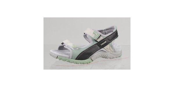 Černo-zelené outdoorové sandále s šedými detailmi Head