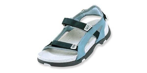 Dámske šedo-čierne textilné sandálky Betula