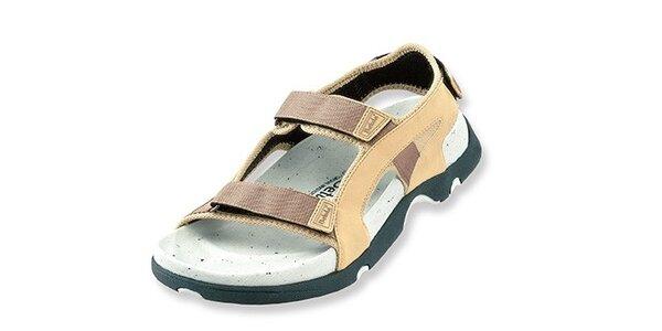Dámske béžovo-hnedé textilné sandálky Betula