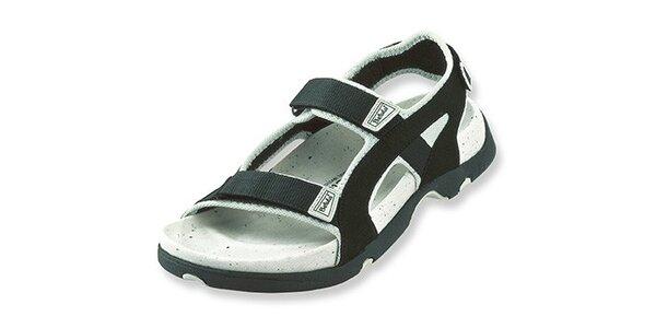 Čierne textilné sandálky Betula