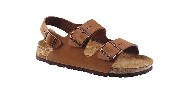 Svetlo hnedé kožené sandálky Newalk