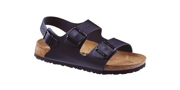 Čierne kožené sandálky Newalk