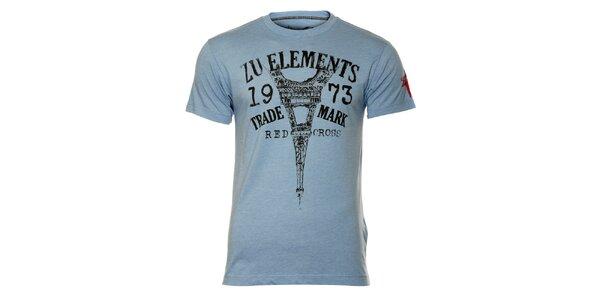 Pánske modré tričko s eiffelovkou ZU elements