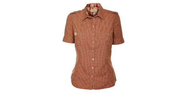 Dámska červeno károvaná košeľa ZU elements