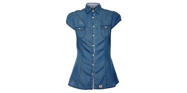 Dámska džínsová košeľa s krátkými rukávmi ZU elements