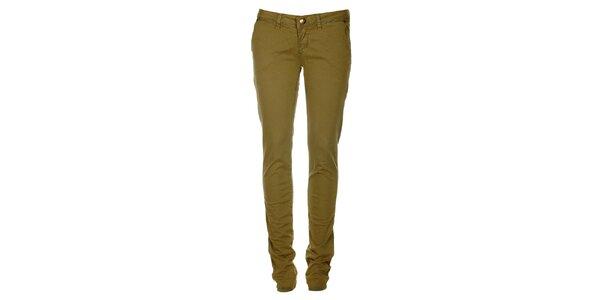 Dámske olivovo zelené skinny džínsy ZU elements