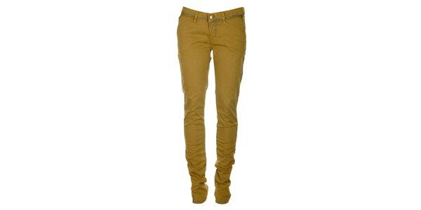 Dámske okrové skinny džínsy ZU elements