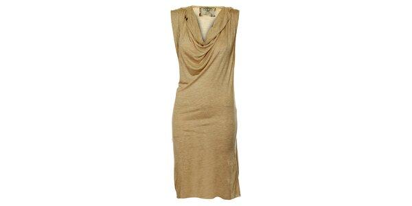 Dámske béžové splývavé šaty ZU elements