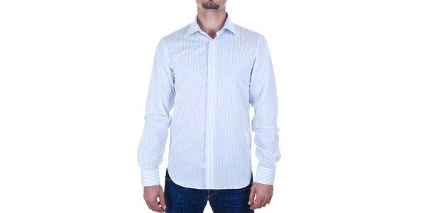 Pánska svetlo modrá košeľa s prúžkom Calvin Klein