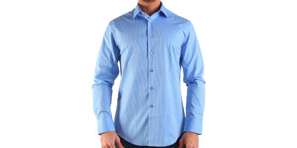 Pánska modrá prúžkovaná košeľa Calvin Klein