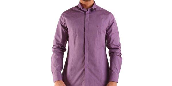 Pánska fialovo-vínová košeľa Calvin Klein