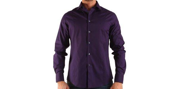 Pánska tmavo fialová košeľa Calvin Klein