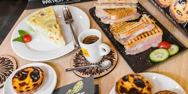 Portugalské pochúťky a káva v novej portugalskej kaviarni