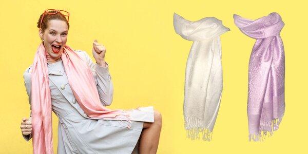 Jemný kašmírový šál - 14 farieb na výber