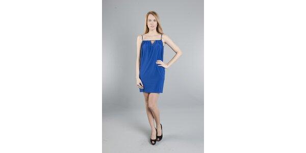 Dámske sýto modré šaty Via Bellucci
