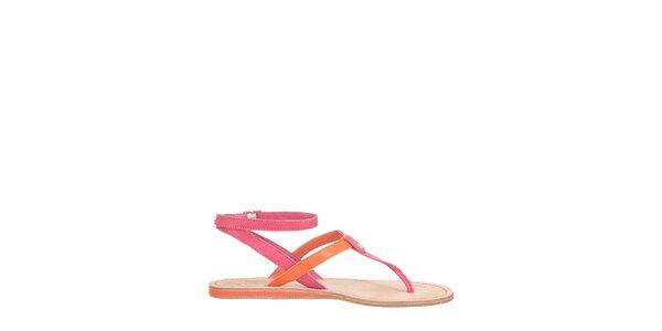 Dámske oranžovo-ružové sandále Flip Flop