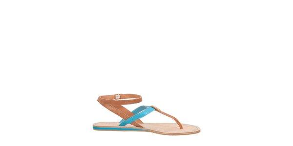 Dámske modro-hnedé sandále Flip Flop