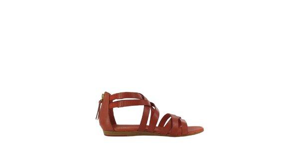 Dámske cihlovo červené sandále Flip Flop